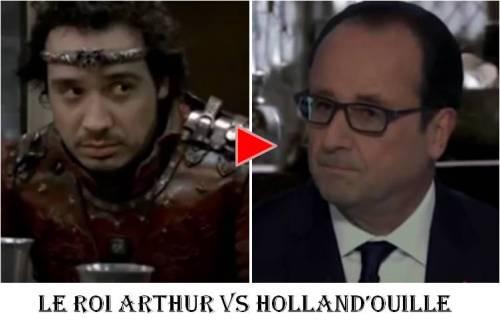 le roi arthur vs hollandouille francois hollande