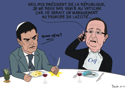 Valls et hollande au crif