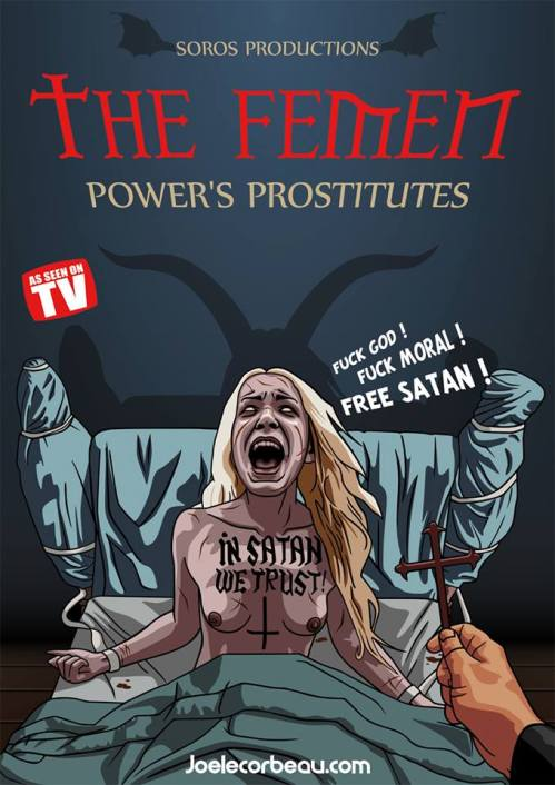 Femen in satan we trust soros
