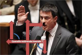 Manuel Valls - Quenelle redressée inversée
