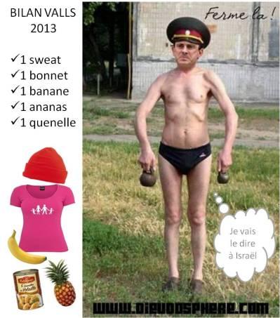 valls - bilan 2013 - banane sweat ananas quenelle bonnet
